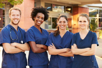 a group of nurse smiling