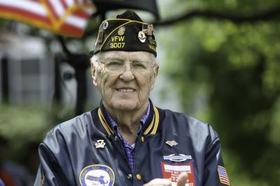 A Veteran at Holiday Ceremony